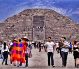 Mexico City, Teotichuacan, Pyramide of the Sun, Pyramide of the Moon