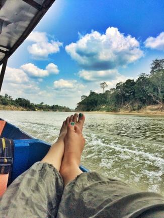 Boat ride, River, Taman Negara, Malaysia