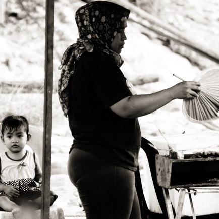 Boy, Kid, Mum, BBQ, Taman Negara, Malaysia