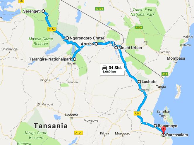 Route Tanzania